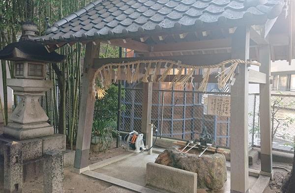 三条八幡神社の手水舎