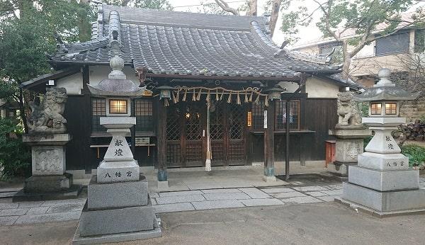 三条八幡神社の拝殿