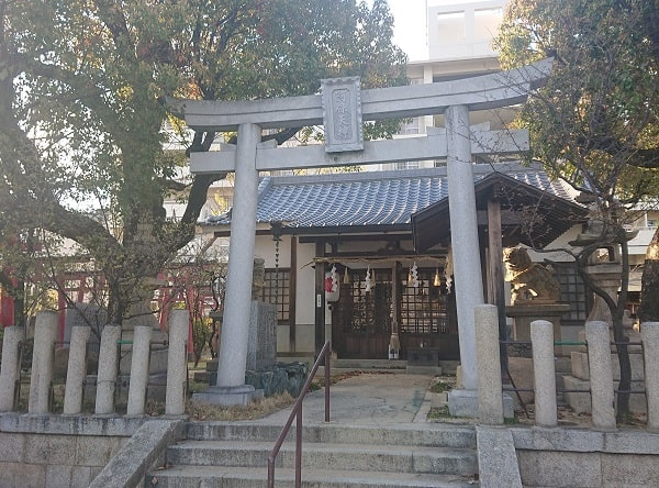 阿保天神社の鳥居