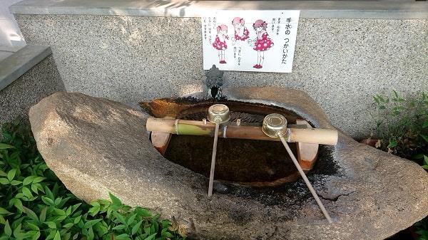 小戸神社の手水舎