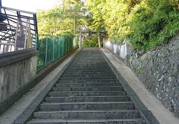 伊居太神社の階段