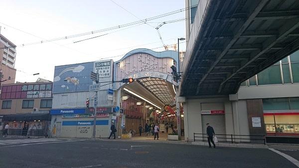 池田駅の商店街