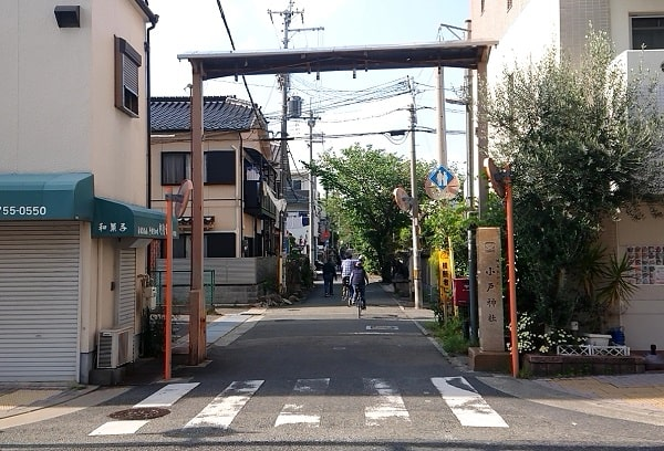 小戸神社の参道
