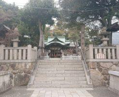 芦屋神社の入り口