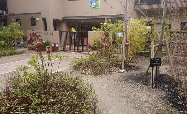 亀之森住吉神社の境内に幼稚園がある