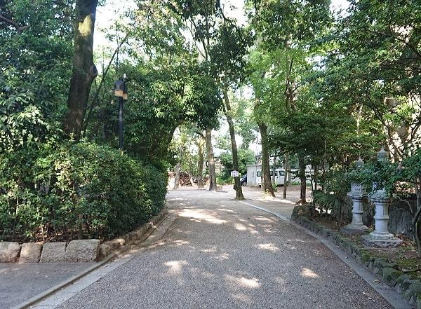 伊和志津神社の参道