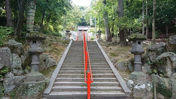 売布神社の階段