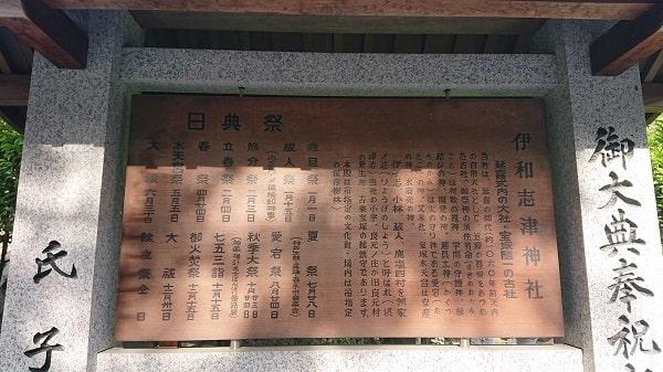 伊和志津神社の由緒