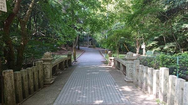 清荒神の参道の橋