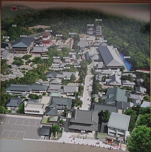 中山寺の境内マップ