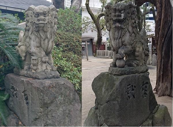 素盞烏尊神社の狛犬