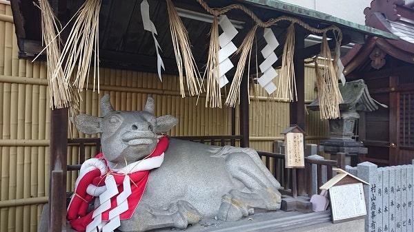 綱敷天神社の牛舎
