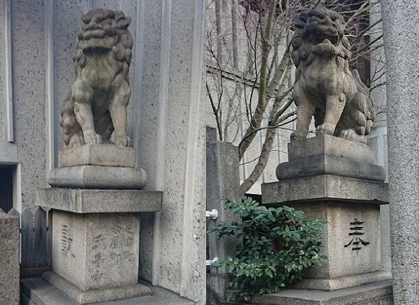 綱敷天神社御旅社の狛犬