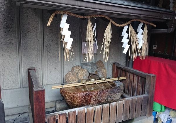 綱敷天神社御旅社の手水舎