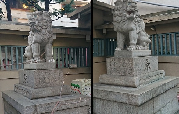 綱敷天神社の狛犬
