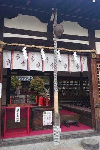 森稲荷神社でお参り