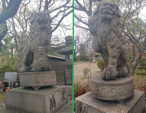 豊崎神社の狛犬