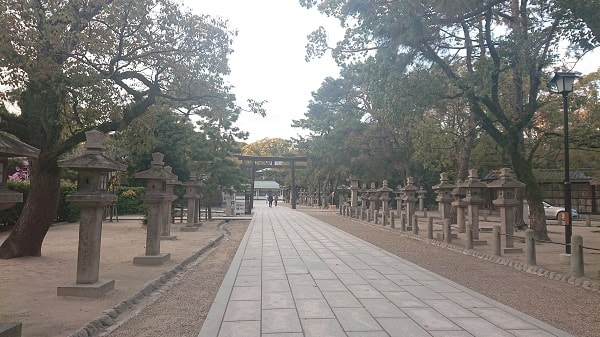 西宮神社の境内の様子
