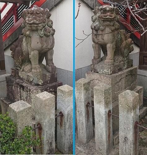 門戸厄神の狛犬