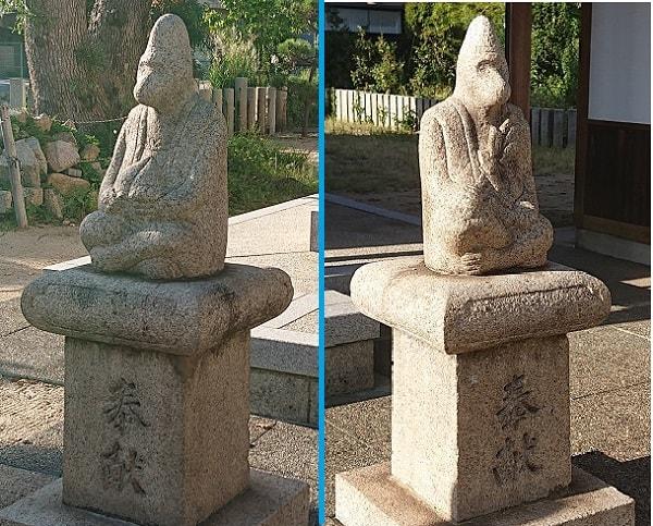 日吉神社の狛猿