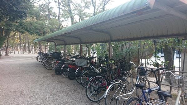 西宮神社の駐輪場