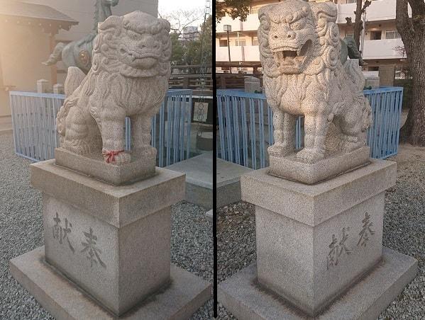 神明八幡神社の狛犬