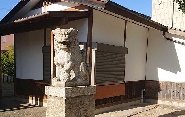 芦屋市の日吉神社の社務所
