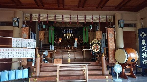 東天神社の様子