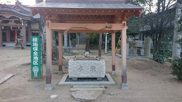 鴻池神社の手水舎