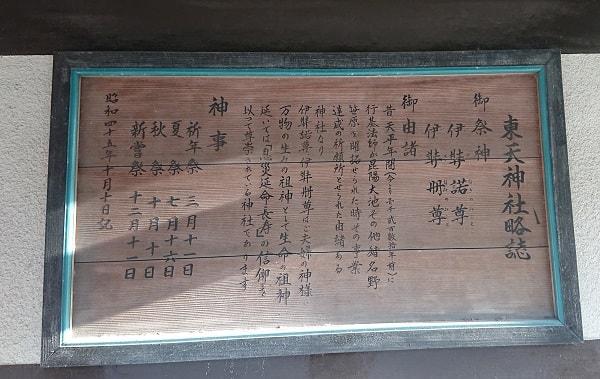 東天神社の由緒