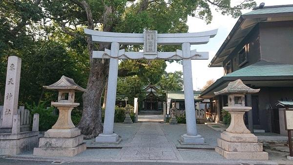 東天神社の鳥居