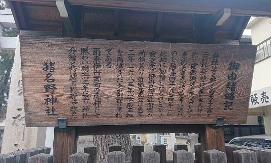 猪名野神社の由緒
