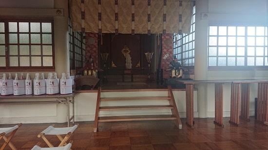 健速神社の拝殿