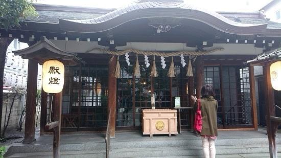 サムハラ神社の拝殿