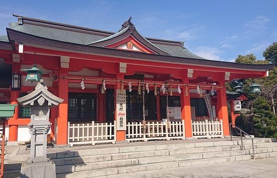 中島惣社の拝殿