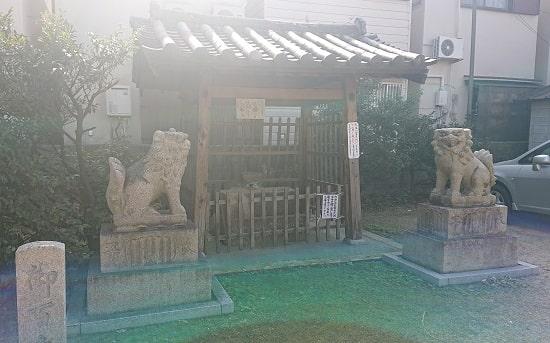 柴島神社の手水舎