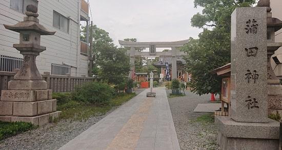 蒲田神社の鳥居